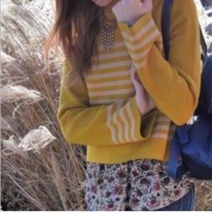 Anthropologie Moth Striped Sweater